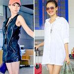 Thời trang - Thời trang sexy của sao Việt tại sân bay