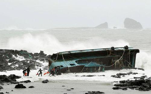 Chùm ảnh bão Bolaven tàn phá Hàn Quốc - 1