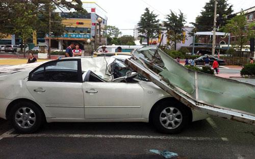 Chùm ảnh bão Bolaven tàn phá Hàn Quốc - 10