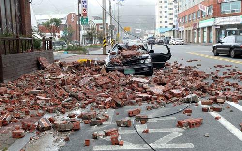 Chùm ảnh bão Bolaven tàn phá Hàn Quốc - 2