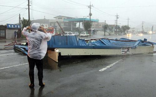 Chùm ảnh bão Bolaven tàn phá Hàn Quốc - 9