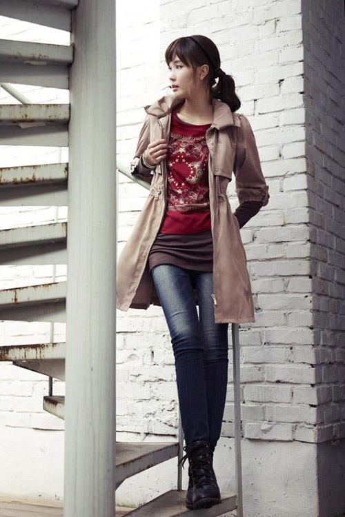 Lee Da Hee lãng mạn trong chiều thu - 14