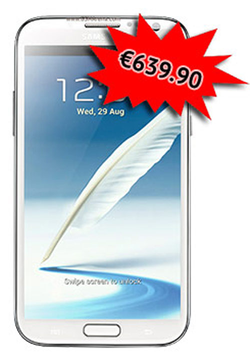 Galaxy Note II có giá 16,6 triệu đồng - 1