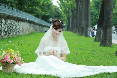 Thiếu nữ Hà Nội rạng rỡ làm cô dâu - 5