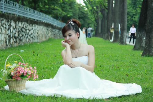 Thiếu nữ Hà Nội rạng rỡ làm cô dâu - 8