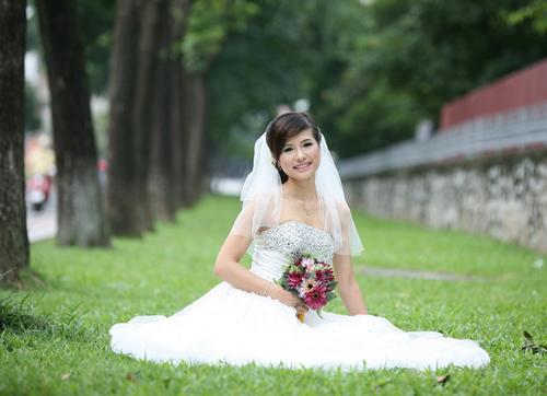 Thiếu nữ Hà Nội rạng rỡ làm cô dâu - 12