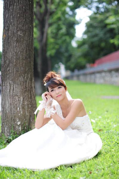 Thiếu nữ Hà Nội rạng rỡ làm cô dâu - 16