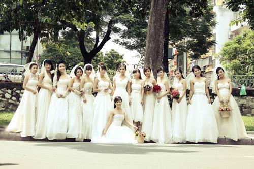 Thiếu nữ Hà Nội rạng rỡ làm cô dâu - 1