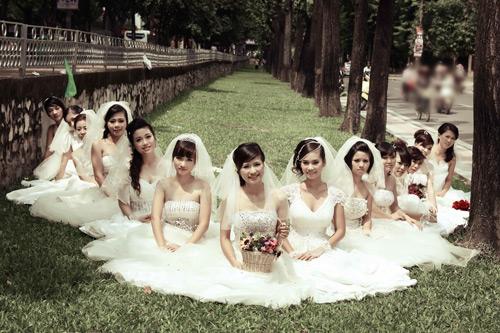 Thiếu nữ Hà Nội rạng rỡ làm cô dâu - 2