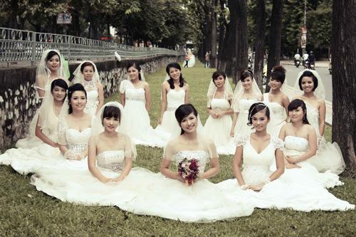 Thiếu nữ Hà Nội rạng rỡ làm cô dâu - 3