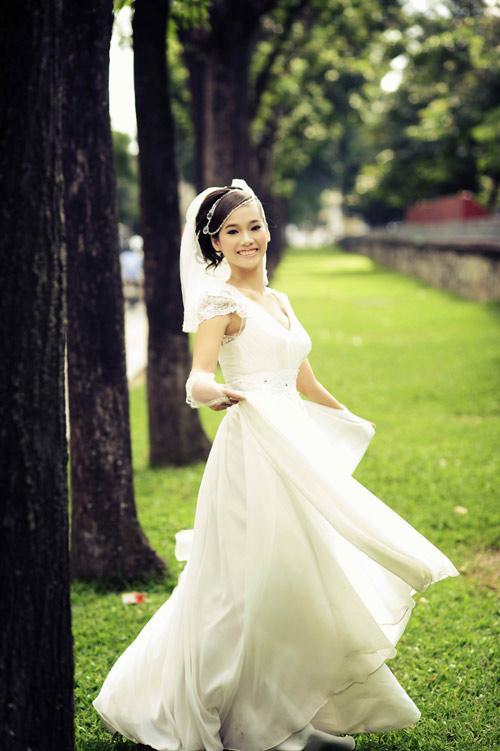 Thiếu nữ Hà Nội rạng rỡ làm cô dâu - 9