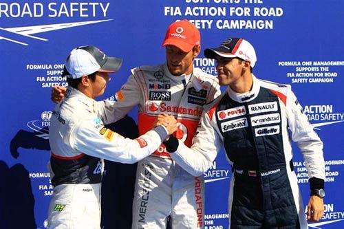 F1 - Phân hạng Belgian GP: Button tạo bão tại Spa - 1