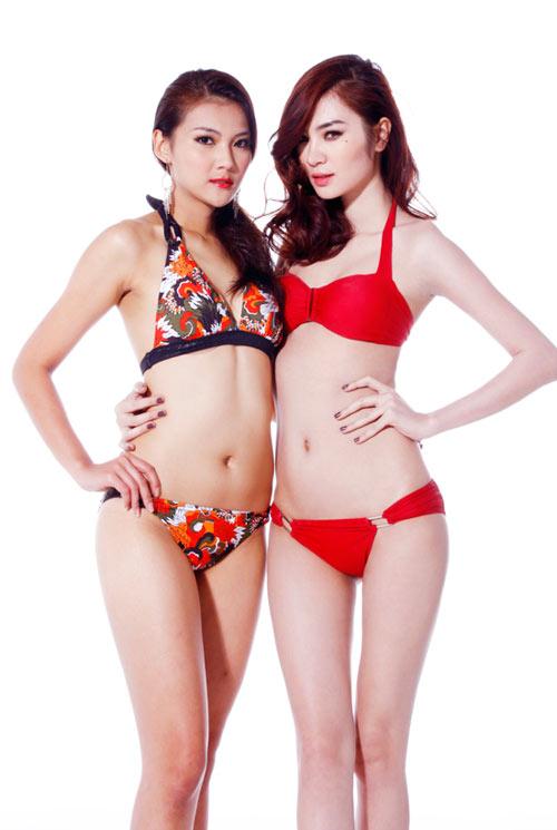 Ngọc Oanh bỏng rẫy với bikini đỏ rực - 8