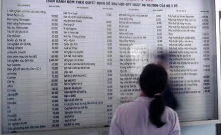 Nhiều bệnh viện áp phí mới từ tháng 9 - 1