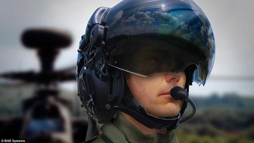 Mũ bảo hiểm giúp phi công nhìn xuyên máy bay - 1