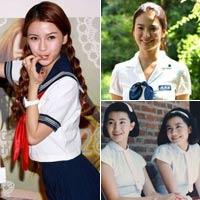 Sao Á đọ trẻ trung với đồng phục nữ sinh