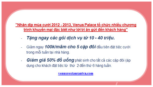 Venus Restaurant u i ln ma ci 2012-2013, m thc, 