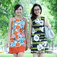 Rạng rỡ với váy suông họa tiết