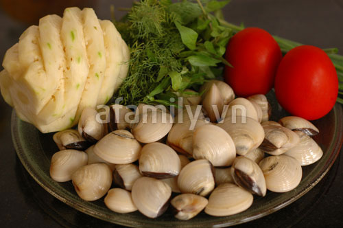 Canh ngao nấu dứa chua dịu đưa cơm - 1