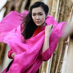 Thời trang - Á hậu Thùy Trang bồng bềnh trong sắc lụa