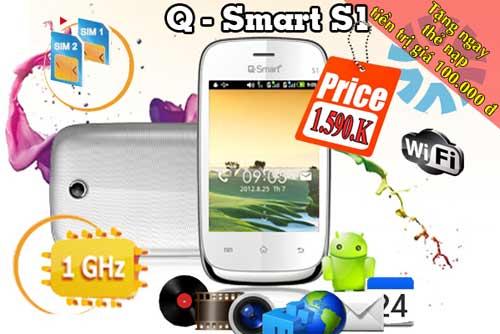 Sốc với Smartphone 2 sim 2 sóng giá rẻ CPU 1GHz - 1