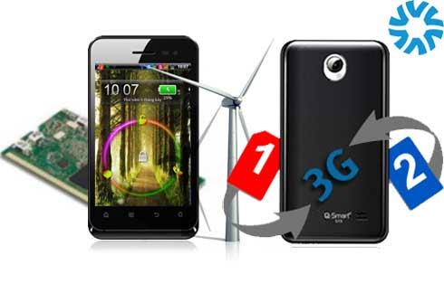 Sốc với Smartphone 2 sim 2 sóng giá rẻ CPU 1GHz - 2