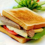 Ẩm thực - Bữa sáng với sandwich pa-tê gan ngỗng
