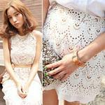 Thời trang - Đẹp tựa thiên thần với váy ren trắng
