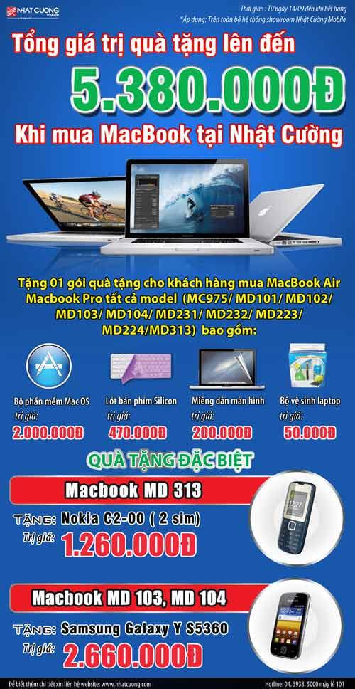 Macbook trao tay nhận ngay điện thoại tại Nhật Cường - 1