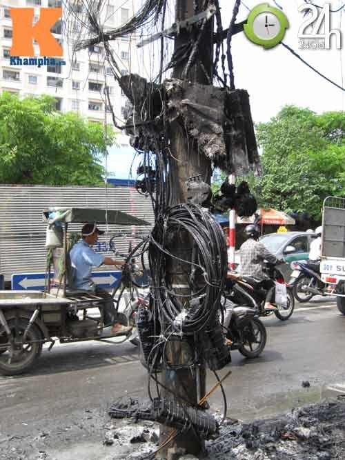 Hà Nội: Cháy cột điện, người dân hoảng loạn - 2
