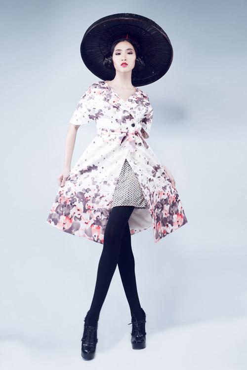 Huỳnh Nu tung hứng với nón quai thao - 4