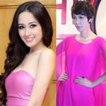 Thời trang - Sao Việt lãng mạn với màu cánh sen