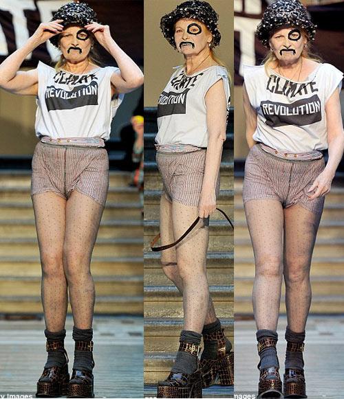 Nữ sinh nổi loạn trên sàn catwalk London - 3