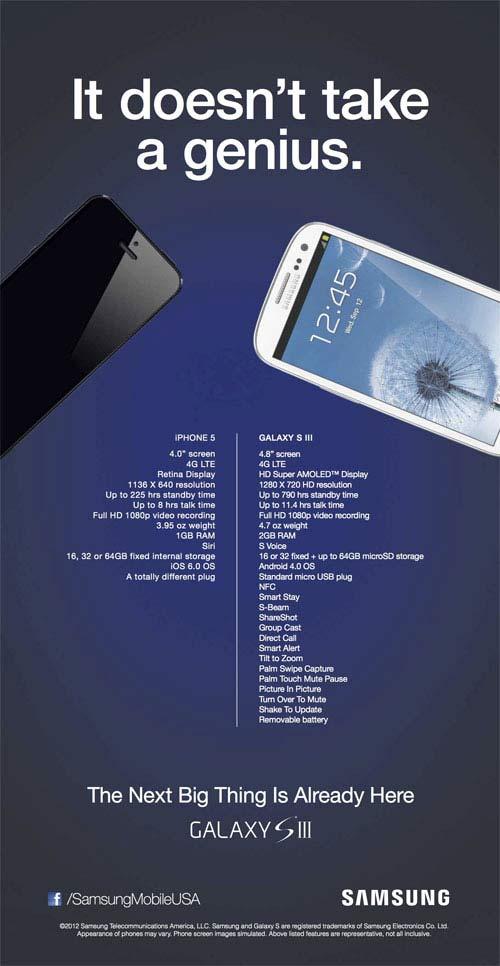 Samsung tung quảng cáo 'đá đểu' iPhone 5 - 1