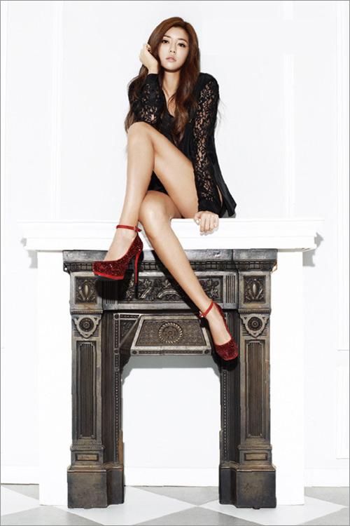 Kiều nữ Hàn khoe chân dài siêu mượt - 1