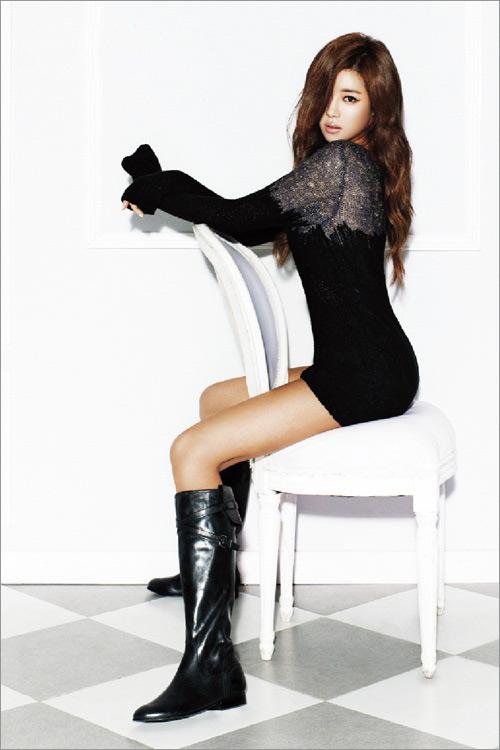 Kiều nữ Hàn khoe chân dài siêu mượt - 4