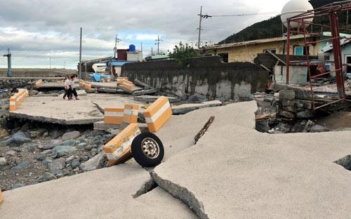 Hình ảnh về sức tàn phá dữ dội của bão Sanba - 5