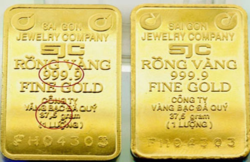 Sẽ điều tra, xử lý vàng nhái SJC - 1