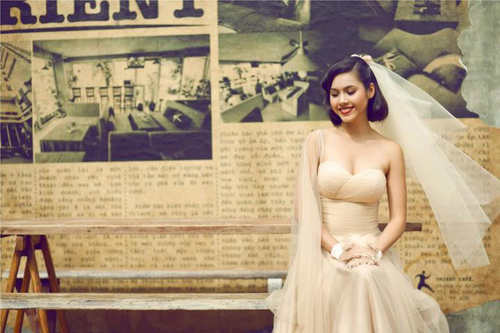 Mỹ nhân Việt đọ sắc cùng váy cưới - 12