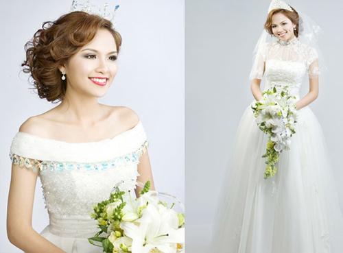 Mỹ nhân Việt đọ sắc cùng váy cưới - 13