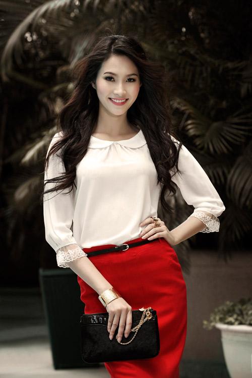 Hoa hậu Thu Thảo sành điệu, thanh lịch - 4