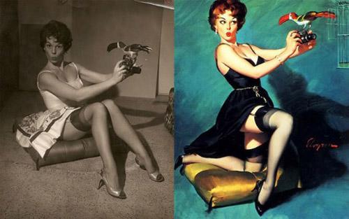 Mỹ nữ 1950s đẹp ám ảnh trong tranh - 7