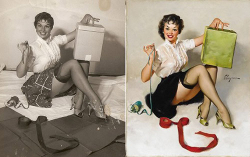 Mỹ nữ 1950s đẹp ám ảnh trong tranh - 10