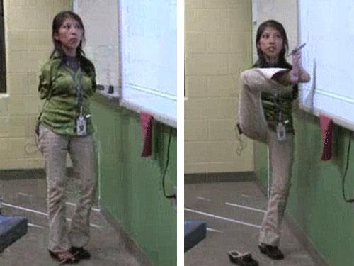 Mỹ: Cô giáo dạy toán ... bằng chân! - 2