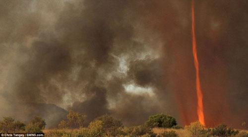 Hình ảnh ma quái về lốc xoáy lửa ở Úc - 2
