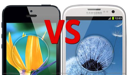 Đọ khả năng hiển thị giữa iPhone 5 và Galaxy S3 - 1