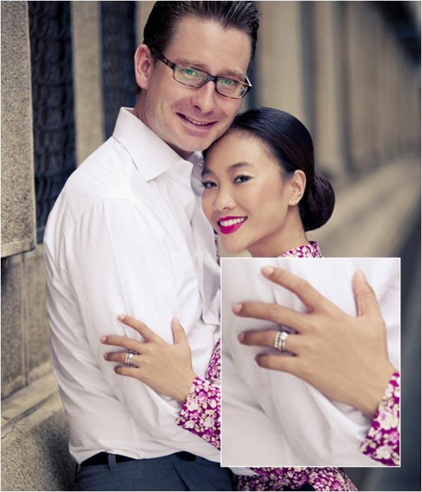 Nhẫn đính hôn lung linh của mỹ nữ Việt - 5