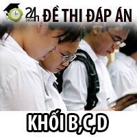 Đón xem đáp án đề thi ĐH khối B, C, D