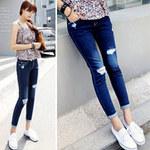 Thời trang - 2 phong cách đơn giản với jeans rách