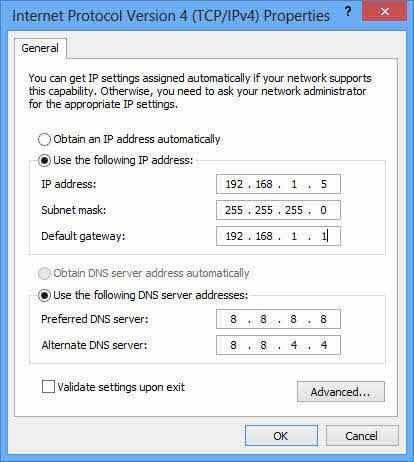 Windows 8: Xử lý lỗi Limited khi kết nối Internet - 2